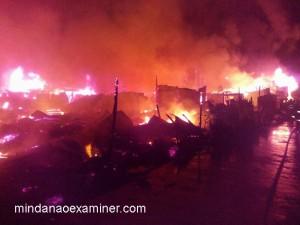 The conflagration in Zanmboanga City on Tuesday, June 21, 2016. (Mindanao Examiner Photo - Ely Dumaboc)