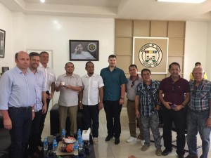 Sulu provincial photos show Governor Toto Tan and Sultan Sultan Muedzul-Lail Tan Kiram with Estonian business executives Sten Hans Vihajar, David Ericson, Meelins Niin and Viljar Jaamu – who expressed interest in investing in Sulu.