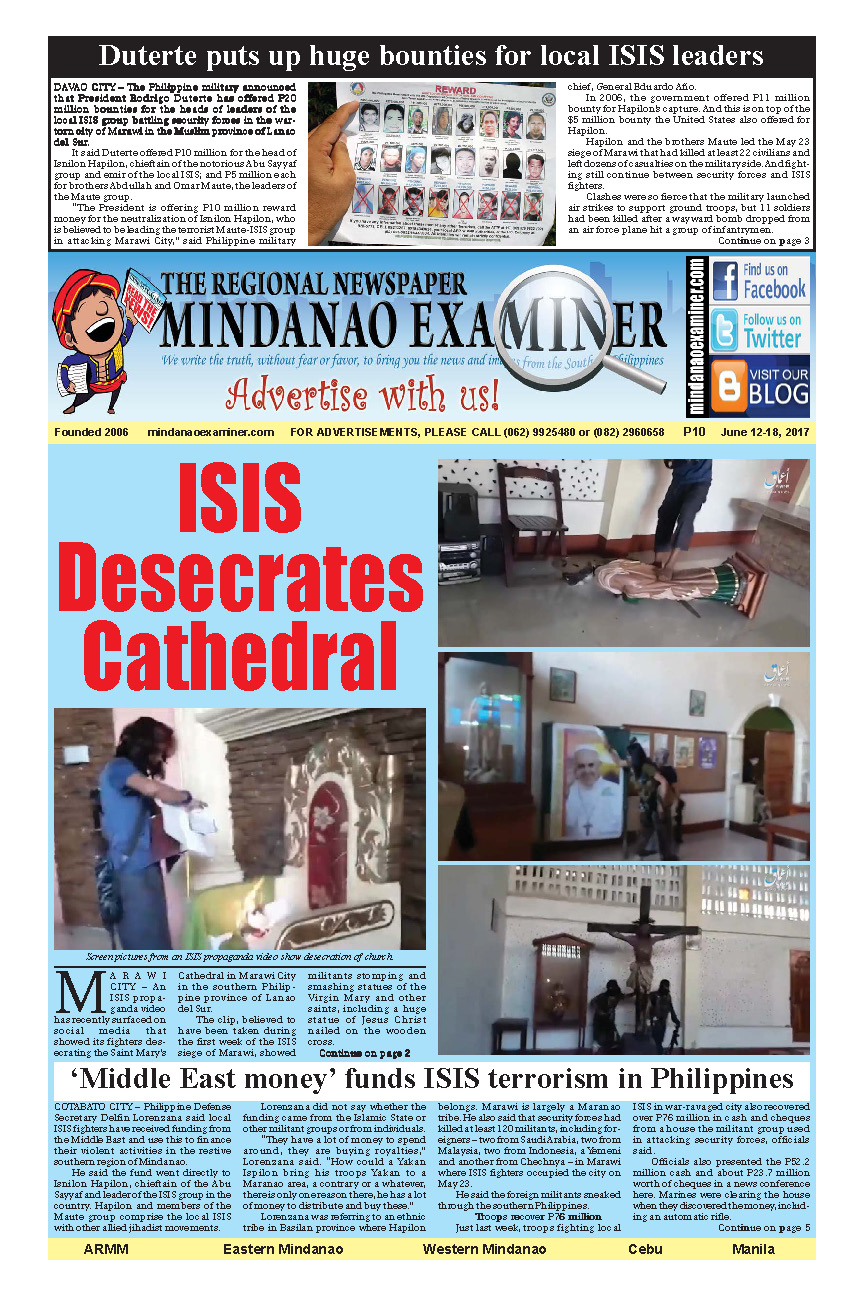 Mindanao Examiner Newspaper June 12-18, 2017