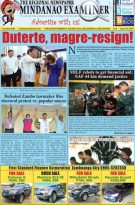 Mindanao Examiner Regional Newspaper June 3-9,2019
