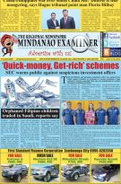 Mindanao Examiner Regional Newspaper June 10-16, 2019