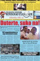 Mindanao Examiner Regional Newspaper June 17-23, 2019